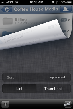 In Addition We Added A Shortcut For Switching Between Thumbnail And List View Just Shake Your Device The Will Toggle