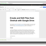Typing a New Google Document