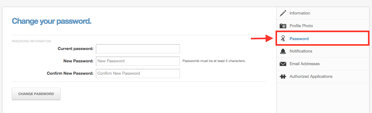 Password Page
